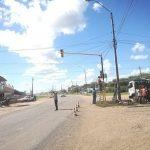 Neue Ampel in Loma Plata und gleich ein Unfall des Bürgermeisters
