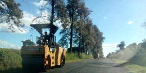 Asphaltierung zwischen Independencia und Paso Yobai schreitet zügig voran