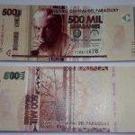 500.000 Guaranies Banknote aufgetaucht