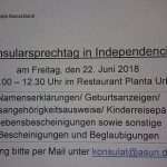 Konsularsprechtag in Independencia