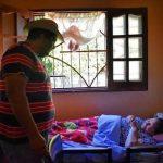 Patienten mit Lepra am Rande der Gesellschaft