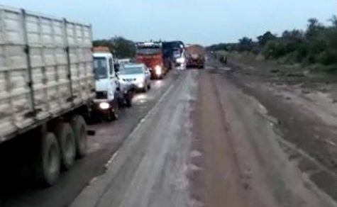 Erneutes Verkehrschaos auf der Transchaco