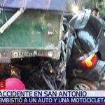 LKW verliert Sattelauflieger und löst schweren Unfall aus