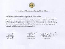 Kooperative Carlos Pfannl bleibt geschlossen