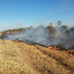 An der Transchaco-Route wüten große Feuer