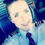 Eine junge Paraguayerin als Pilotin auf dem Airbus A380