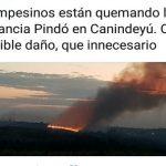 Gewalttätige Campesinos setzen Estancia in Brand