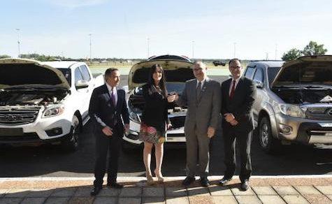 Beschlagnahmte Geländewagen für staatliche Funktionäre
