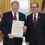 Donald Trump beglückwünscht Mario Abdo Benítez