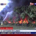Großfeuer auf Mülldeponie gefährdet Flugbetrieb in Ciudad del Este