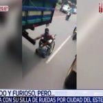 Lebensmüder Rollstuhlfahrer