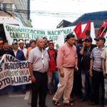 Falsche Bauern protestieren in Asunción