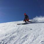 Jari Arkko passiert mit Mini-Ski den Cerro Tres Kandú