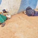 Obdachlose der Kälte schutzlos ausgesetzt