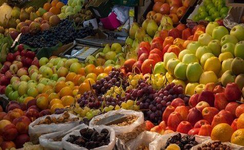 Essen nach den Farben des Regenbogens