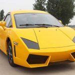 Chinesische Renner mit Lamborghini Emblem