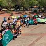 Mit Wasserwerfer Demonstration gegen den Klimawandel verhindert