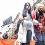 Zombie-Marsch gegen die Bildungsmisere