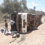 Nach Busunfall 5 Personen verletzt