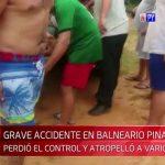 Gas mit Bremse verwechselt: Schwerer Unfall in Naturschwimmbad