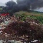 Mülldeponie 300 Meter neben einem Gesundheitsposten