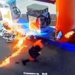 Ein Wunder verhindert Inferno an Tankstelle