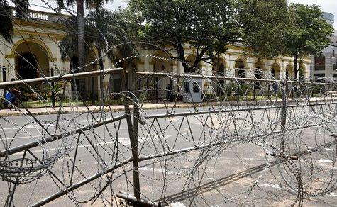 Das Zentrum der Hauptstadt ein Kriegsschauplatz