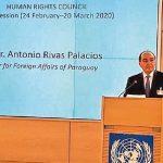 Paraguay gibt Kandidatur für den Menschenrechtsrat der UN bekannt