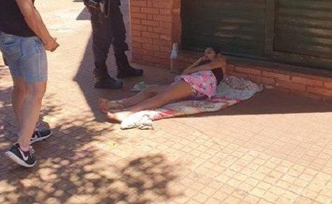 Obdachlose schwangere Frau angezündet