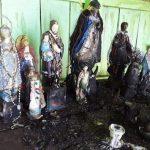 Cerro Corá: Skulpturen von Schutzheiligen verbrannt