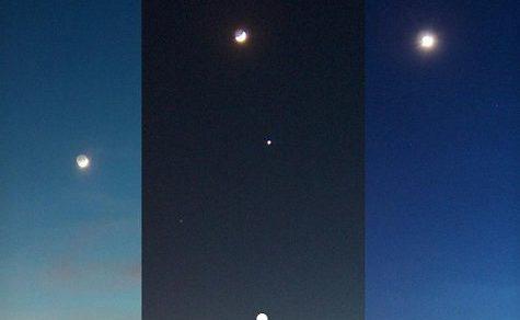 Beeindruckende Planetenausrichtung am Nachthimmel