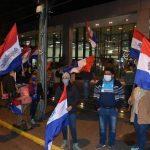 Proteste vor der Banco Basa