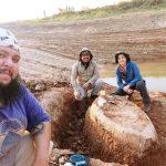 Chaco: Beim Ausheben eines Teiches auf Fossil getroffen