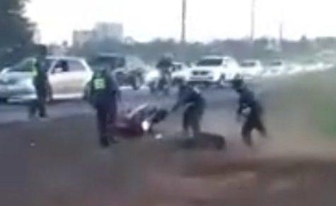 Polizeikontrolle artet aus