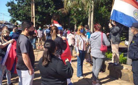 Demonstrationen für die Öffnung der Grenze nach Argentinien