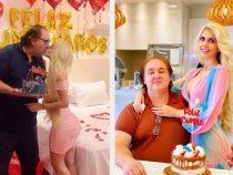 """Gouverneur feiert Geburtstag mit seiner """"Barbie-Puppe"""""""