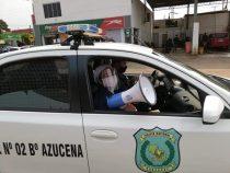 Polizei führt mit Lautsprecherdurchsagen Sensibilisierungskampagne durch