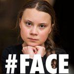 Greta Thunberg zeigt mit dem Finger auf Paraguay