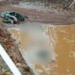 Motorradfahrer verunglückt und ertrinkt in einer Baugrube
