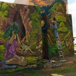 Preisgekröntes Wandbild der Deutschen Botschaft schmückt die Costanera
