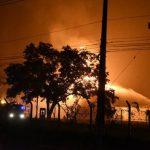 Großbrand im Petropar-Lager