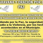 Zum politischen Friedensmarsch in Independencia aufgerufen