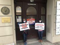 Fall Juliette: Demonstration für Reiner Oberüber in Berlin