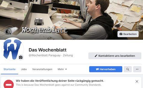 Gemeinschaftsstandards verletzt und bei Facebook offline