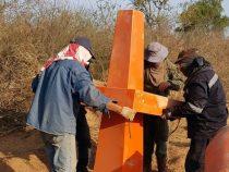 Neue Grenzsteine zwischen Paraguay und Bolivien