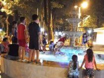 Wasserspiele als Schwimmbad genutzt